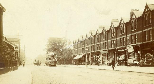 Wilmslow Road looking north