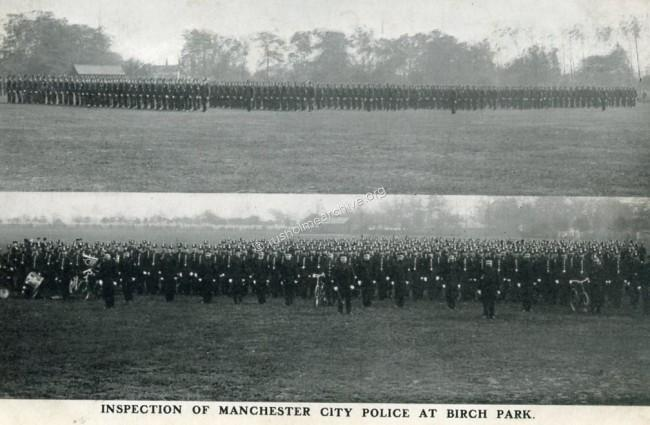 undated view of Police Inspection at Birch Park