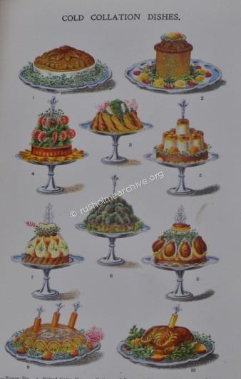 'Cold Collation Dishes, Mrs Beeton'