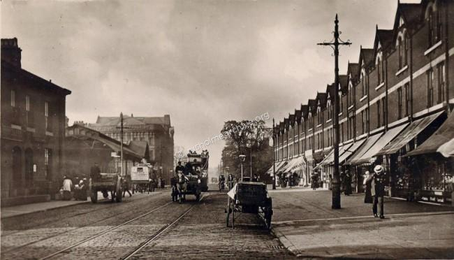 Wilmslow Road, looking north