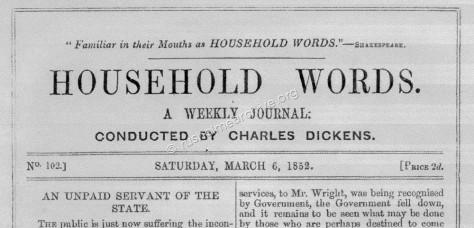 Household Words March 6th 1852