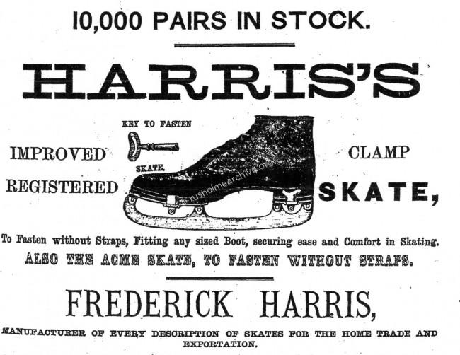 Skating advertisement 1873