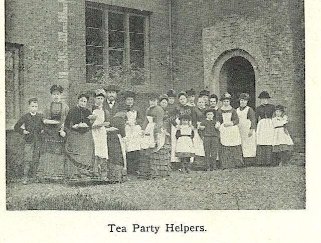 Tea party helpers!