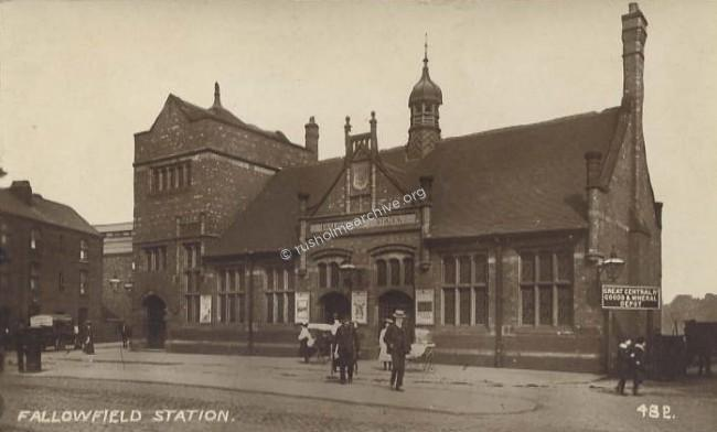 Fallowfield Railway Sation 1910photo alternative text...
