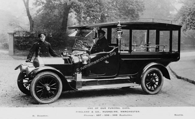 Finglands Funeral Car circa 1910