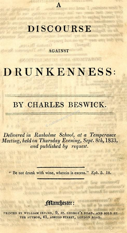 A discourse on drunkenness