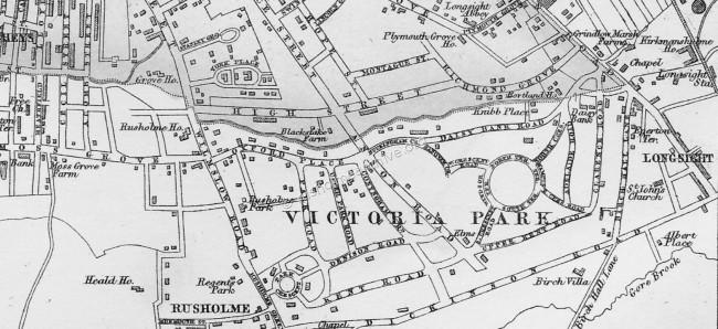 High Street district Map 1874