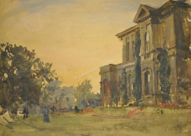 Evening View of a Villa in Oak Drive 1903