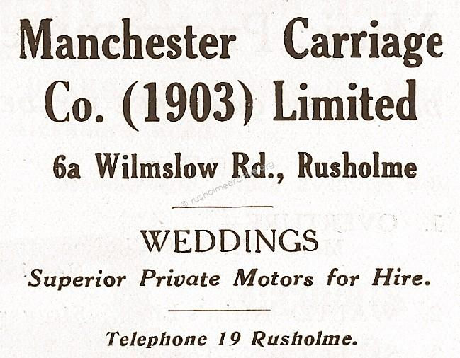 Manchester Carriages Advert