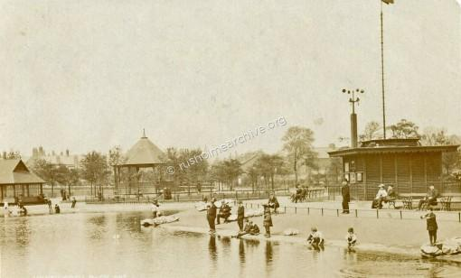 Whitworth Park lake, 1906