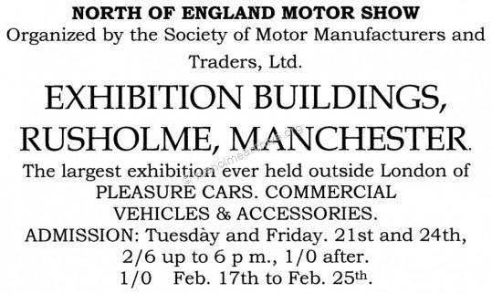 Poster for Northern Motor Show