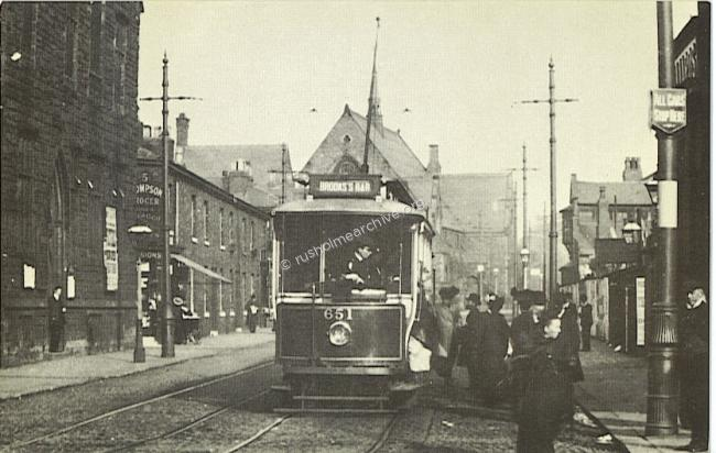 Tram stop outside Hardys Well, Dickenson Rd