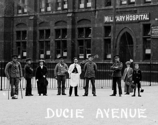 Ducie Avenue Hospital close-up
