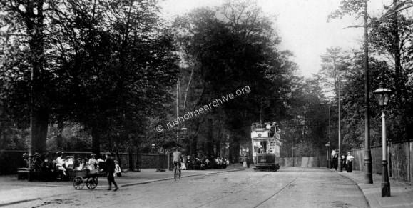 Fallowfield Brow, 1911 looking towards Rusholme