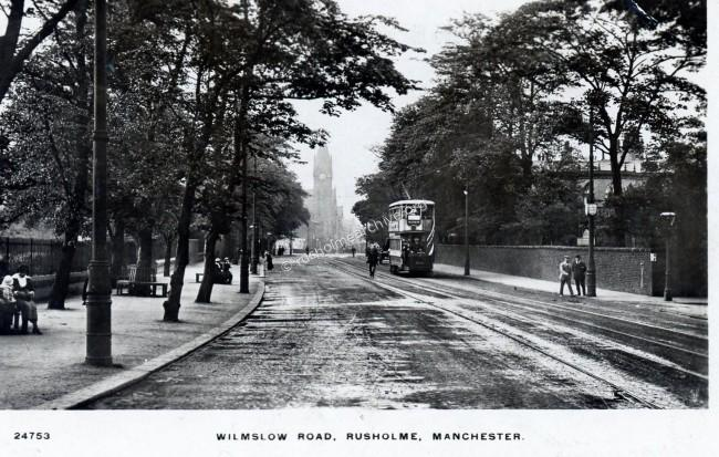 Wilmslow Rd, looking to the north, 1916