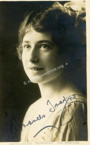 Autographed PC of Frances Trayne