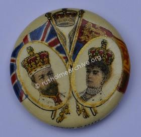 KING GEORGE V 1911 CORONATION BROOCH PIN BADGE