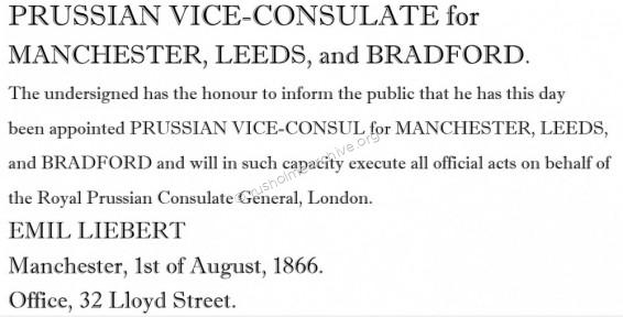 Consular Appointment 1866
