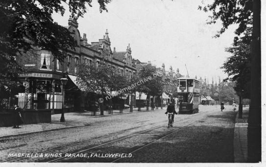 Kings Parade, 1909, looking north.