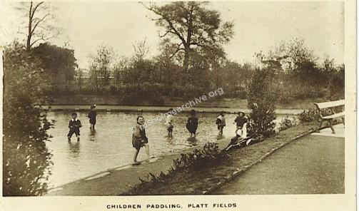 Children in Paddling Pool, 1918