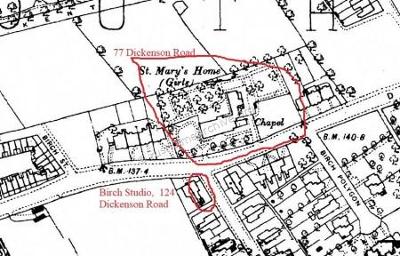 St Mary's Home, map dated 1881
