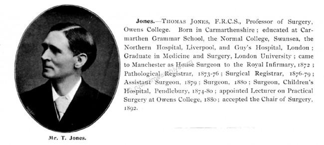 Thomas Jones Surgeon